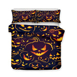 3D Halloween Pumpkin Light Ghost Pattern Print 3 Piece Bedding Set Multiple Size Selection-Mr Koala
