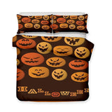3D Halloween Pumpkin Light Ghost Pattern Print 3 Piece Bedding Set Multiple Sizes (1423606218803)