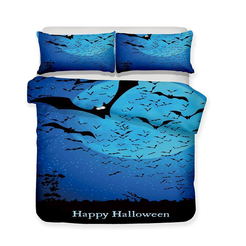 3D Halloween Pumpkin Light Ghost Pattern Print 3 Piece Bedding Set Multiple Sizes-Kitkae-Kitkae-Koalabedding (1423605825587)