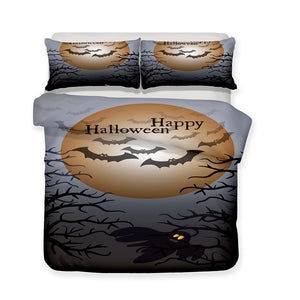 3D Halloween Pumpkin Light Ghost Pattern Print 3 Piece Bedding Set Multiple Sizes-Mr Koala (1423605825587)