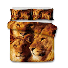 3D Lion Print Bedding Set Double Full Queen Extra Large Pillowcase Quilt Cover-Mr Koala (1415652474931)