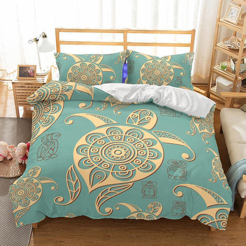 3D Natural Scenery Sea Art Turtle Printed Bedding Sets Duvet Cover Set-Mr Koala