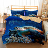 3D Natural Scenery Sea Turtle Printed Bedding Bedroom Blanket Mats Bed Quilt Set-Kitkae-Kitkae-Koalabedding (417709654053)