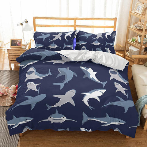 3D Natural Scenery Shark Printed Bedding Sets Duvet Cover-Mr Koala
