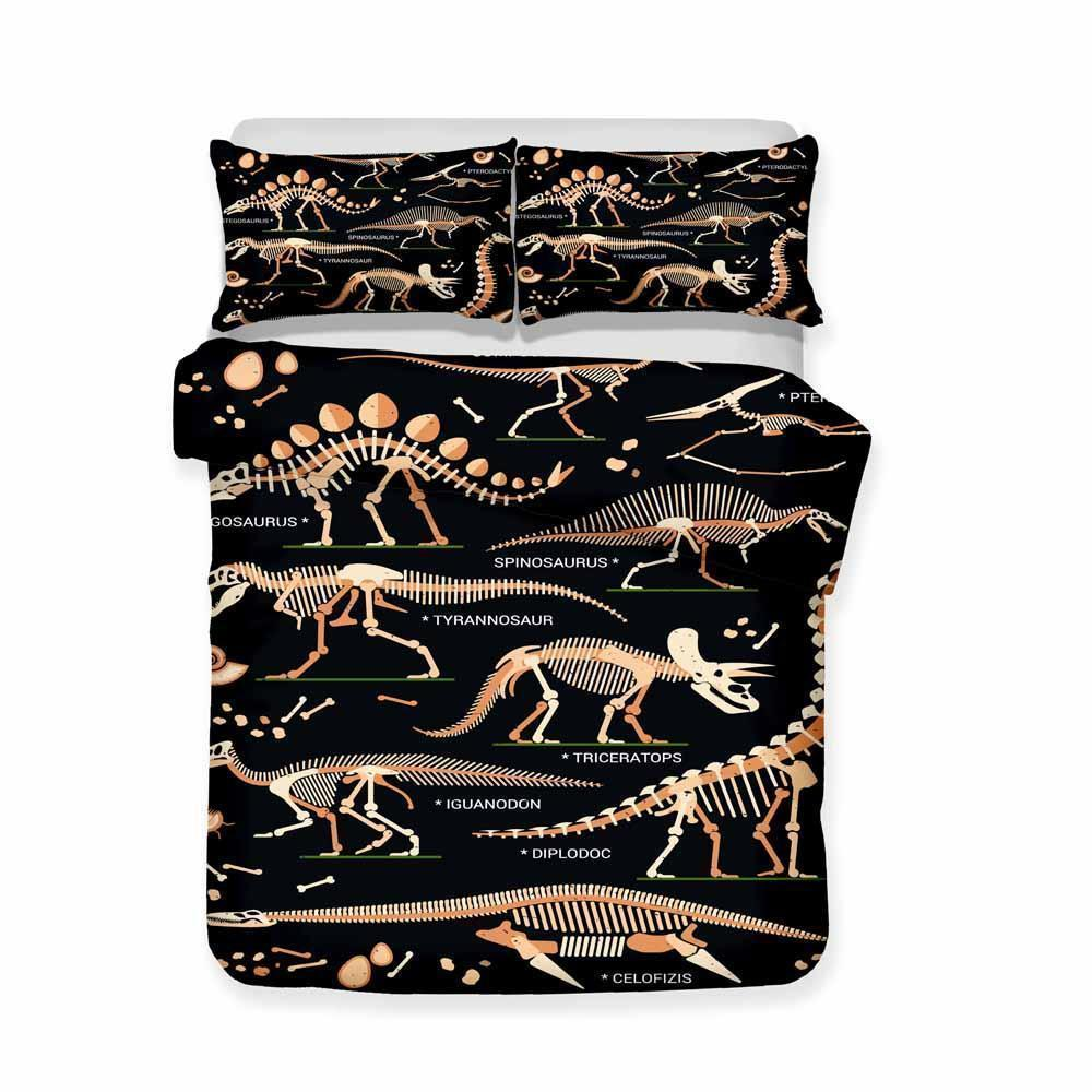 3D Printing Lost World Jurassic Park Dinosaur Pattern Bedding 3 Pieces Of Various Sizes-Kitkae-Kitkae-Koalabedding (1476367319091)