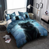 3d Wolf Pattern Digital Print 3 Piece Set Large Bedding Set All Sizes-Mr Koala