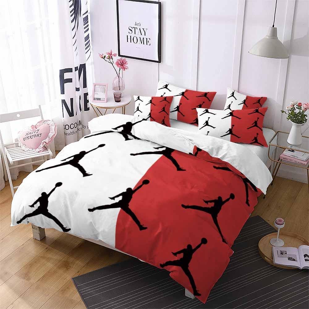 Air Jordan Printed Bedding Sets Duvet Cover Set (4261008834696)