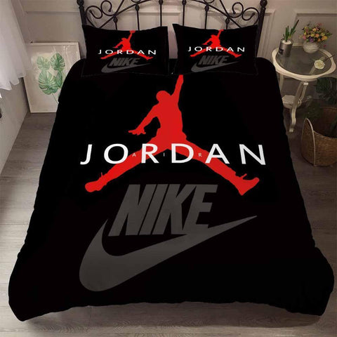 Air Jordan Printed Bedding Sets Duvet Cover Set (4261011357832)