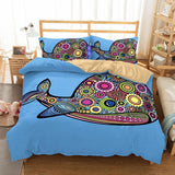 3D Animal Whale Printed bedding twin size bedroom pillows bedding queen 3d bed sheet-Mr Koala