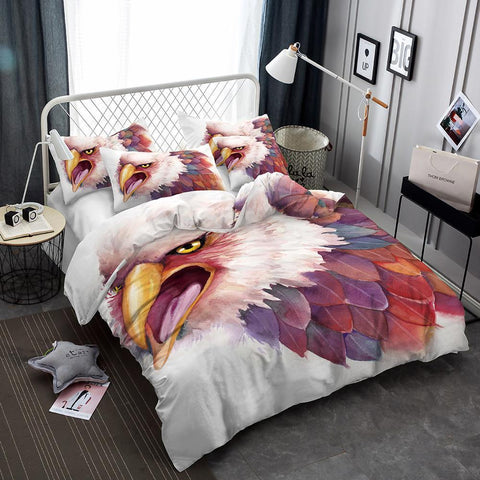 Animal World Bird Flower Eagle 3d Pattern Print Bedding Set Oversized Design Bed Cover-Mr Koala
