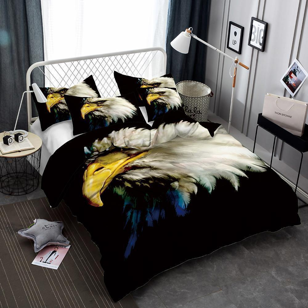 Animal World Flower Eagle 3D Print Bedding Set Oversized Design Bed Cover-Kitkae-Kitkae-Koalabedding (1414875414579)