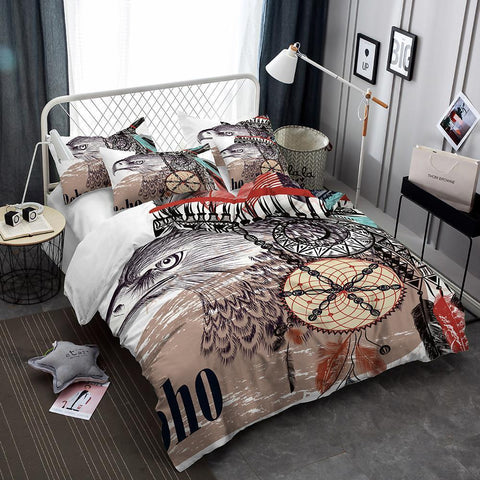 Animal World White Eagle 3d Prints Bedding Set Oversized Design Bed Covers-Mr Koala