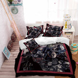 Black The Horror Printed Bedding Sets Cartoon Horror Bedding 3D Duvet Cover Set for home decor (5240876073124)