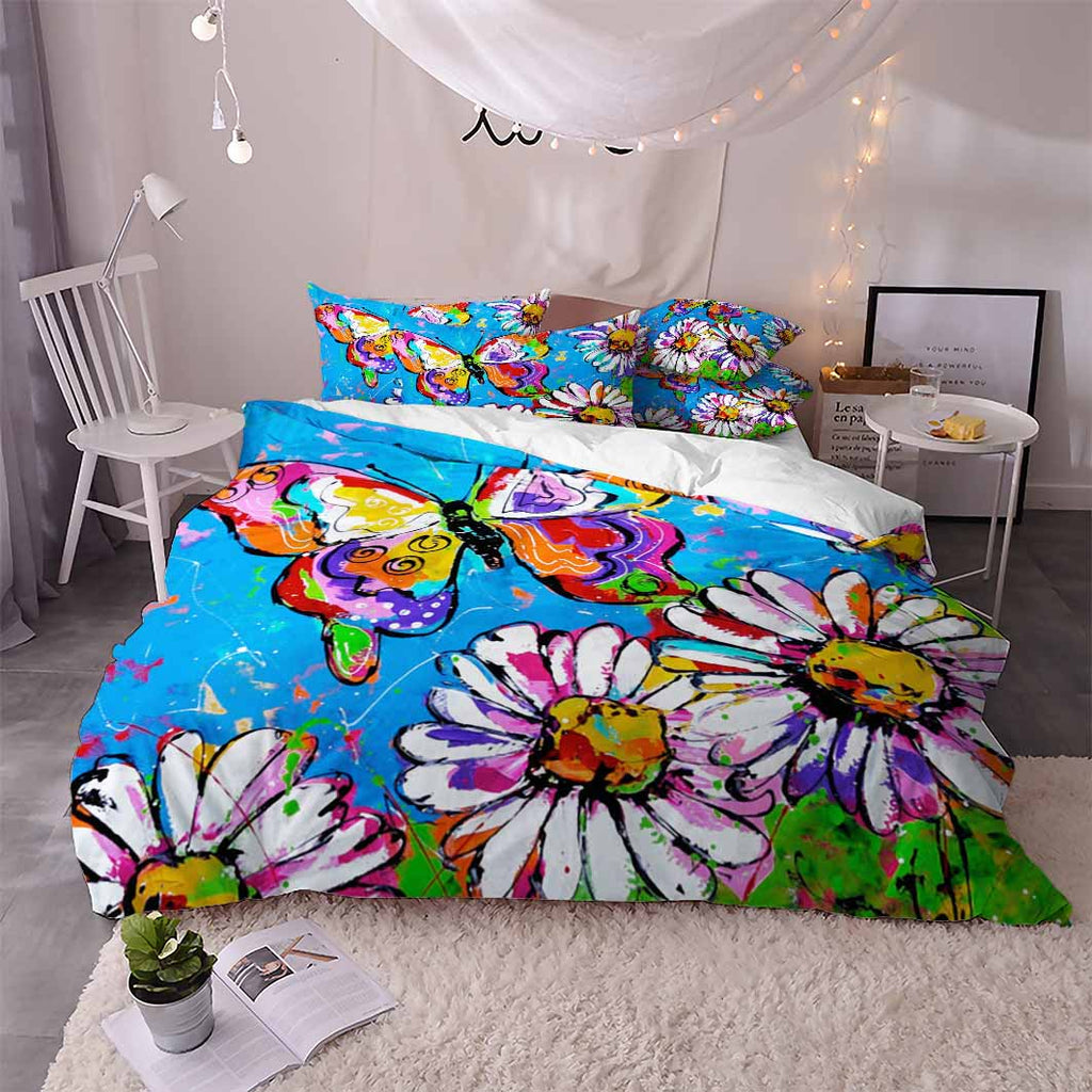 Butterfly Pattern Painting Bedding Duvet Cover Sets for Boys Girls (5604259823780)