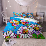 Butterfly Pattern Painting Bedding Duvet Cover Sets for Boys Girls
