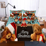 Christmas Teddy Dog Theme Digital Print Bedding Household Items-Kitkae-Kitkae-Koalabedding (1494152085555)