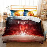 Design Bedding 3D Basketball Fire Printed Bedding Sets Duvet Cover Set-Kitkae-Kitkae-Koalabedding (395428331557)