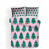 Fitted Sheet Home Decor Design Bedding Christmas Theme Set Bedspread (2260144521267)