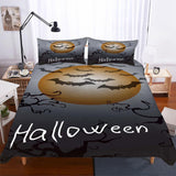 Halloween Pumpkin Light Theme Bedding Set Quilt Bed Cover 3 Piece Set-Mr Koala