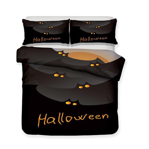 Halloween Pumpkin Light Theme Bedding Set Quilt Bed Cover 3 Piece Set-Mr Koala (1421982105651)