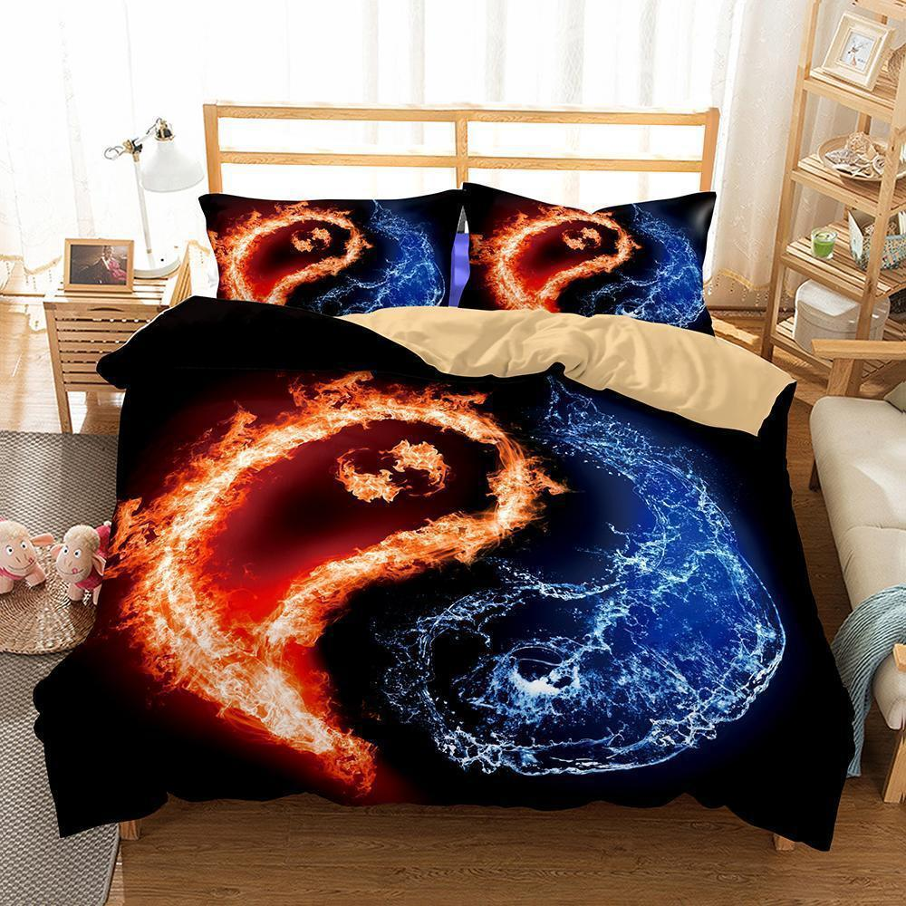 Home Decor Print Bedroom Beddings Yin And Yang Tai Chi Theme Bedding Set Cover Quilt Cover-Kitkae-Kitkae-Koalabedding (1425703731251)