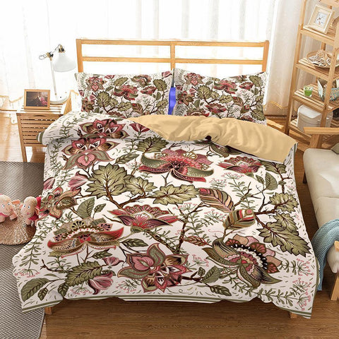 Home Supplies Bedroom Bohemian Theme Print Set 3 Piece Bedding Various Sizes Full Size-Mr Koala