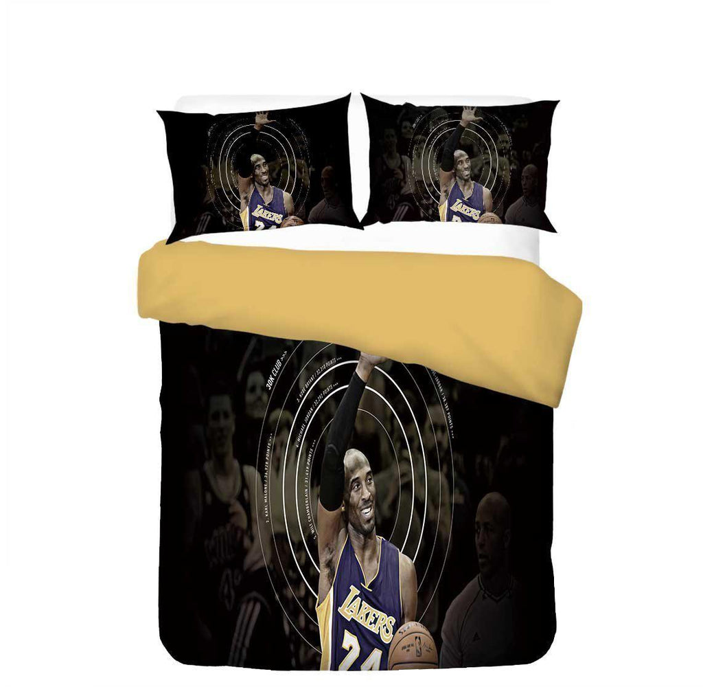 Kobe Bryant Print Bedding Set Duvet Cover Sets For Boys Children Lakers Black Mamba Out (4534338257032)