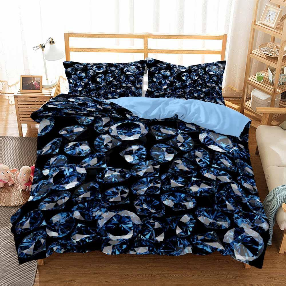 New 2020 Theme Printed Home Blue Diamond Bedding Beds Set For Boy Bedroom Decor-Koalabedding-Kitkae-Koalabedding (4565013037192)