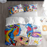 Painting Pattern Butterfly Bedding Duvet Cover Sets for Boys Girls Man Bedroom (5604237476004)