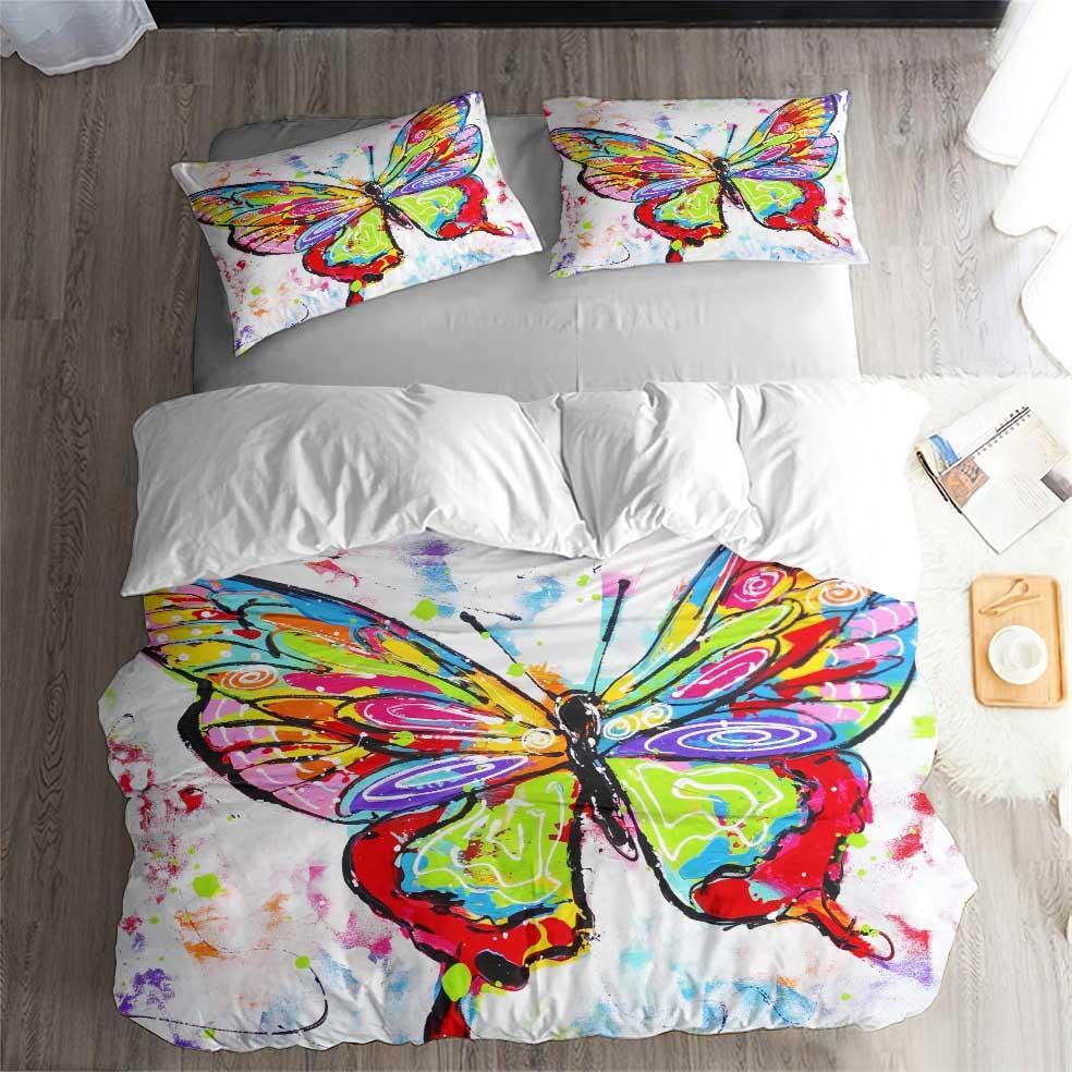 Painting Pattern Butterfly Bedding Duvet Cover Sets for Kids Man Bedroom (5604230922404)