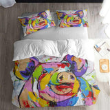 Pattern Painting Bedding Duvet Cover Sets for Boys Girls Man Bedroom (5604245340324)