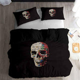 Sugar Skull Bedding Sets Black Comforter Cover for Teens Bedroom (5486496415908)