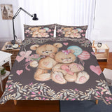 Teddy Bear Theme Digital Printing Bedroom Various Sizes To Choose Bedding