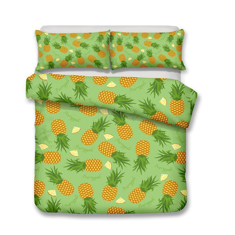 Theme Pineapple Digital Print Home Decoration Design Bedding Set A Variety of Size Options-Mr Koala
