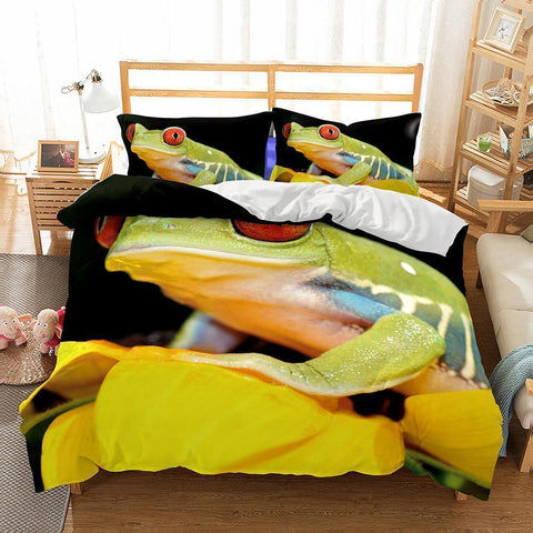 Wholesale Bedding-3D Animal Frog Bedding Sets Duvet Cover Set-Mr Koala