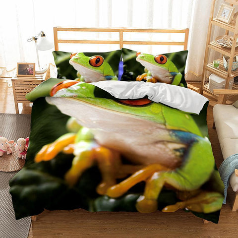 Wholesale Bedding-3D Animal Frog Printed 1 Bedding Sets Duvet Cover Set-Mr Koala