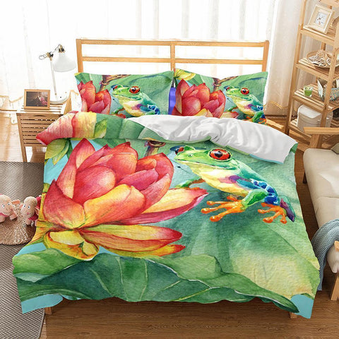Wholesale Bedding-3D Animal Frog Printed Bedding Sets Duvet Cover Set-Mr Koala