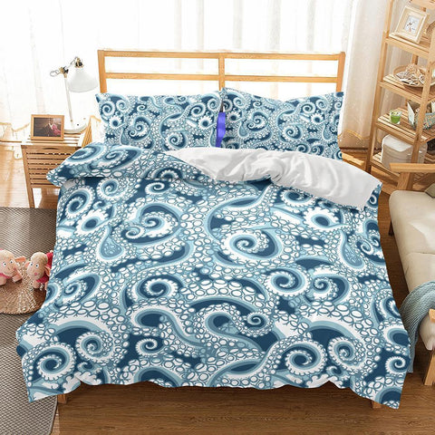 Wholesale Bedding-3D Animal Octopus Printed Bedding Sets Duvet Cover Set-Mr Koala