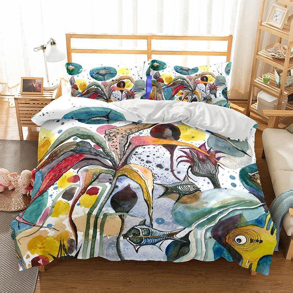Wholesale Bedding-3D Natural Scenery Underwater World Printed Bedding Sets Duvet Cover Set-Kitkae-Kitkae-Koalabedding (430055587877)