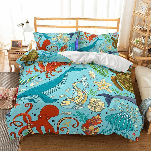 Wholesale Bedding-3D Natural Scenery Underwater World Printed-Mr Koala