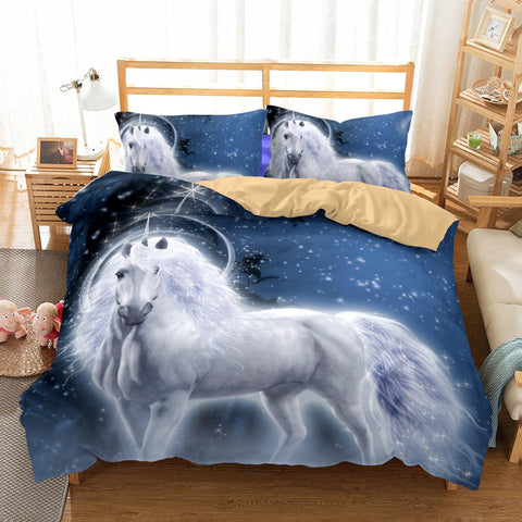 Wholesale Bedding 3D Unicorn Printed Bedding Sets Duvet Cover Set-Mr Koala
