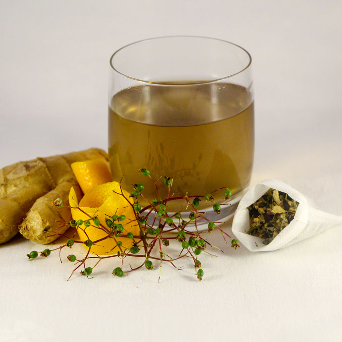 Purify and Detox Tea | Ginger Elderberry Dandelion Orange Tea