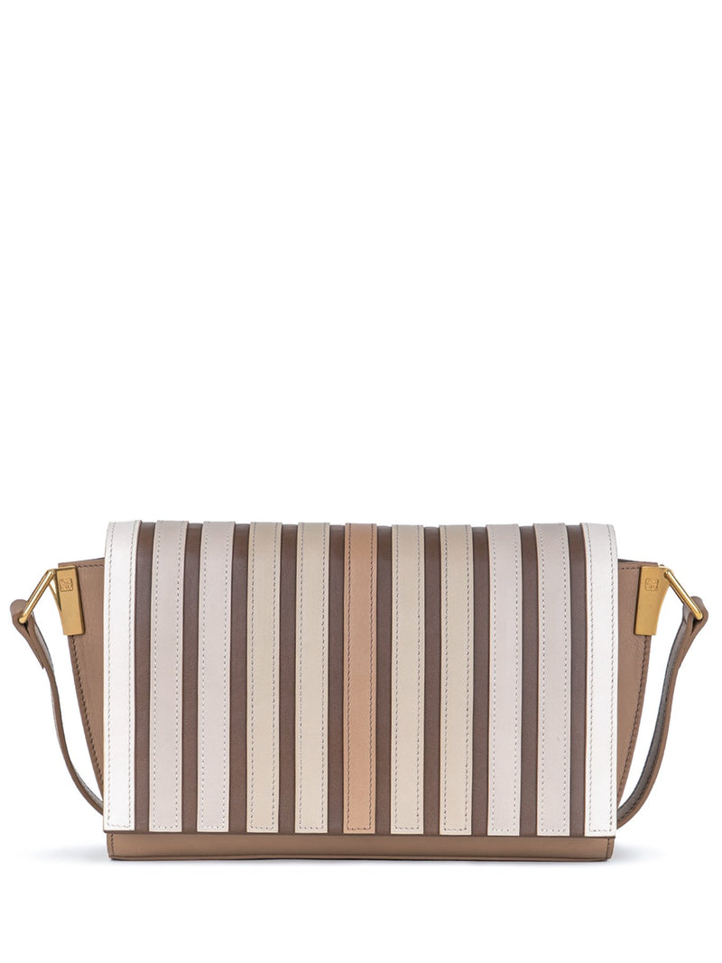 womens crossbody bag in caramel & beige