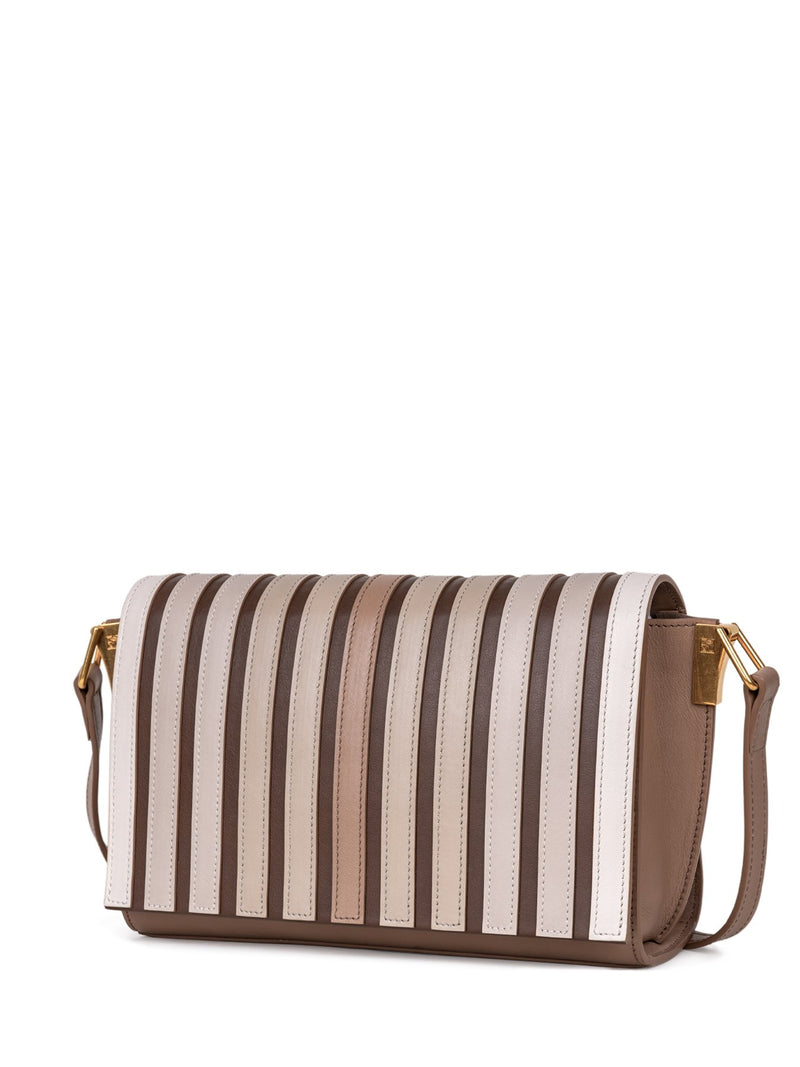 new niche handbag with multi stripes