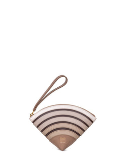 playful clutch bag in caramel color