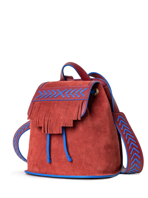 unique fashion backpack with fringed
