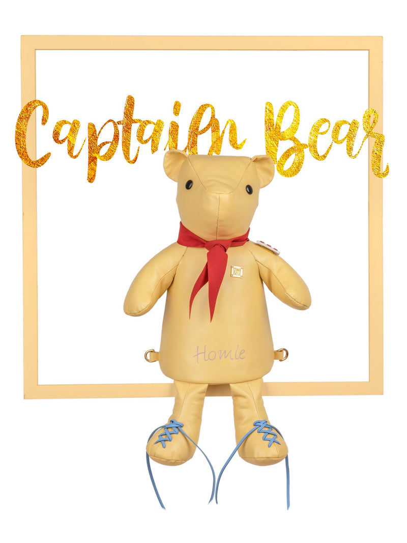 Cute Captain Bear Handbag in Yellow