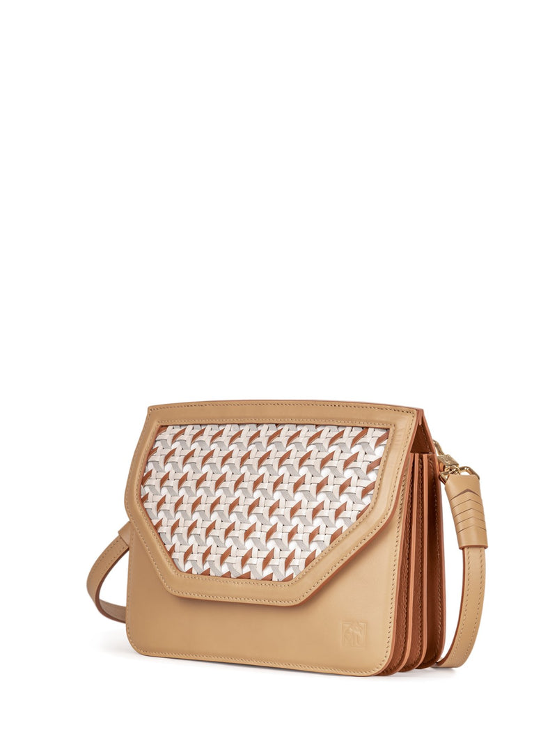 Stylish Crossbody Bag in Italian Leather