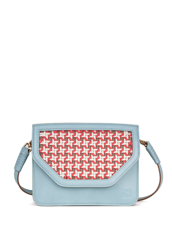 blue designer handbags without a zipper