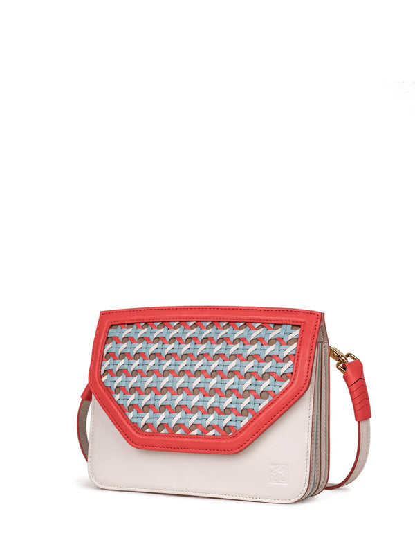 Flat crossbody bag in candy color